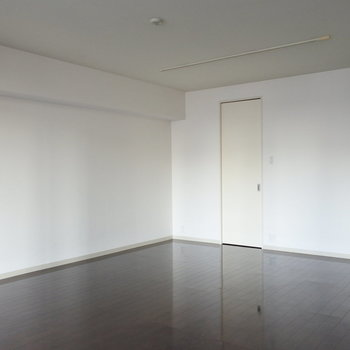 この扉の奥が大きなWICになっています。(※写真は7階の同間取り別部屋のものです)