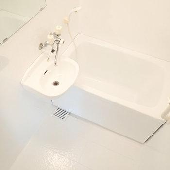 洗面台はお風呂の中にあります。