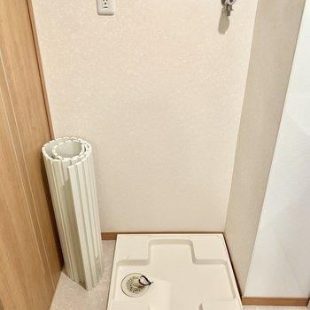 同空間に洗濯機置けますよ○