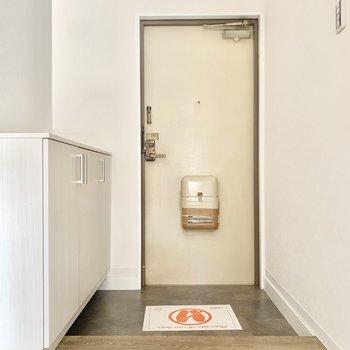 ゆったりしている玄関です。