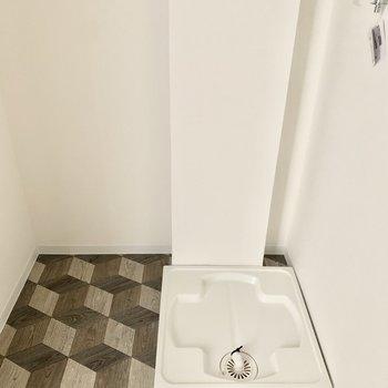 同じ空間に洗濯機置けます○