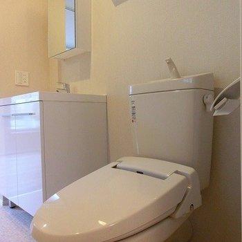 大きいの窓のあるトイレ空間。※写真は前回募集時のものです