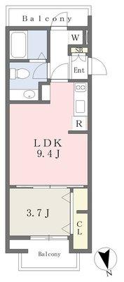 西横浜新築計画A棟の間取り