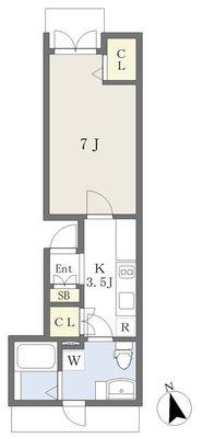 西横浜新築計画B棟の間取り