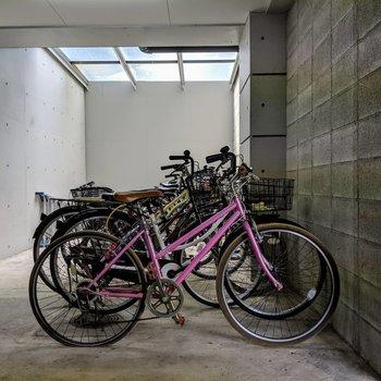 自転車置き場ももちろんあります