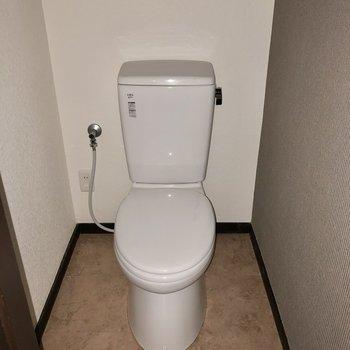 トイレはシンプル。(※フラッシュ撮影のものです)