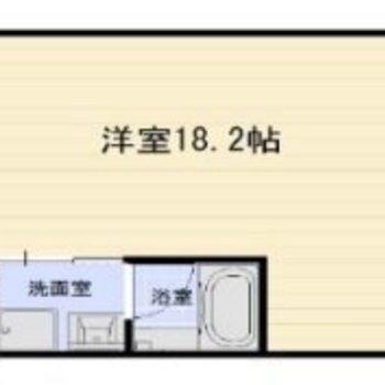 18.2帖の広々ワンルーム!