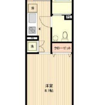 間取りは1Kのお部屋です。※一部間取り図が異なります