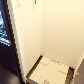 洗濯機はキッチンのとなりです。