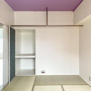 天井の薄紫がめずらしい…!