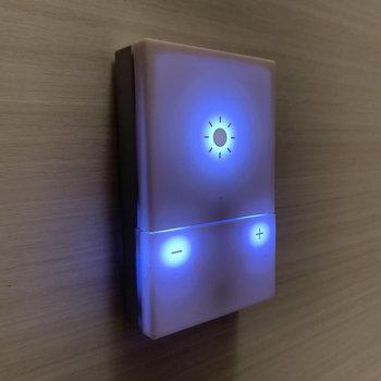 浴槽横のこのボタンで明るさを調整できます。