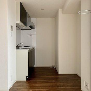 キッチンスペースがしっかり分けられています。