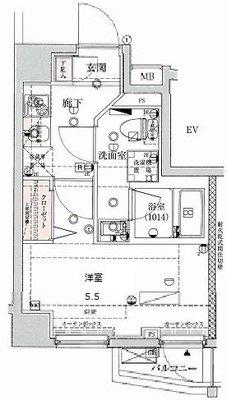 VERXEED横濱WESTの間取り