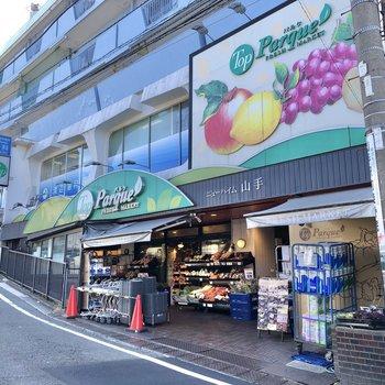 山手駅周辺にはスーパーや、