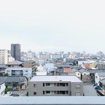 素敵な眺望です(※写真は6階からの眺望です)
