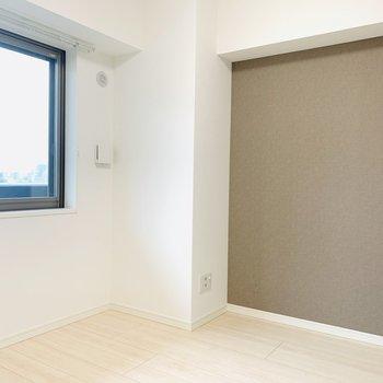 エアコン設置可能(※写真は6階の同間取り別部屋のものです)