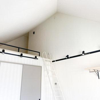 屋根裏部屋のような天井