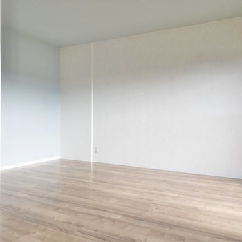 【リビング】大きめの家具やテレビも置けそうな広さ◎