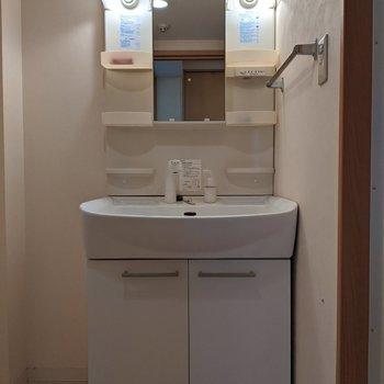 独立式洗面台なので身支度もスムーズです。