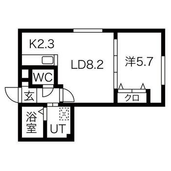 2人暮らしも楽しく。1LDKのお部屋です。