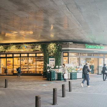 武蔵境の駅前は大型スーパーや商店街、それに駅ナカ施設も充実。