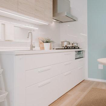 大きなイケアのキッチン!デザインもよいです※写真は同間取りの別部屋、家具は付属しません