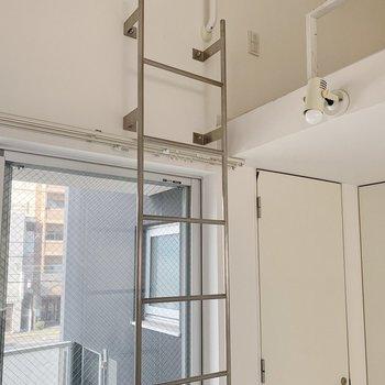 では、はしごを上ってロフトへ。