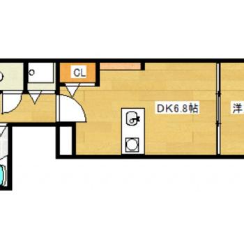 1人暮らしにちょうどよい1DKのお部屋。