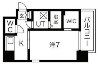 Trusty Residence天王寺東の間取り