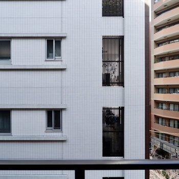 眺望は正面の建物。