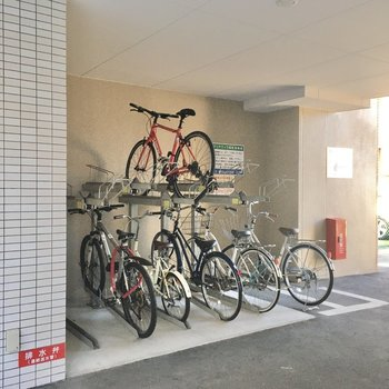 自転車置場はしっかり整備されていました。