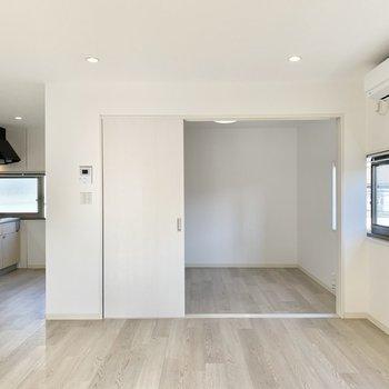 奥に小さなお部屋があります。