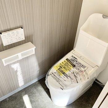 気持ちよく手が洗えるウォシュレットトイレ。