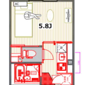 キッチンと寝室を分けることができます。