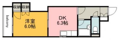 エムズレア千田町の間取り図