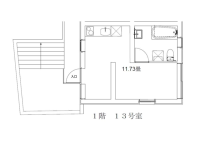玉川台のアパートメント B棟の間取り
