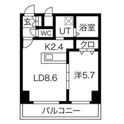 ★新築★レゾ札幌の間取り