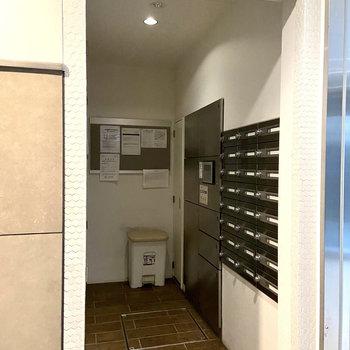 不在時に便利な宅配ボックス。