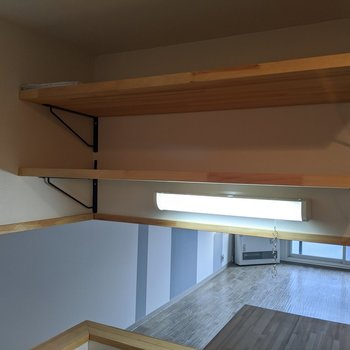 食器棚は2段。