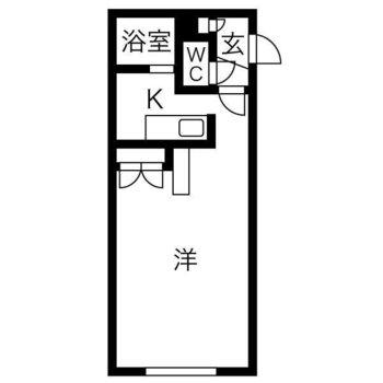 1人暮らし向け1Kのお部屋です。