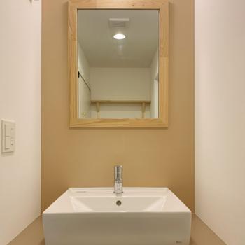 イメージ】洗面台は四角です※壁のカラーはグレーになります