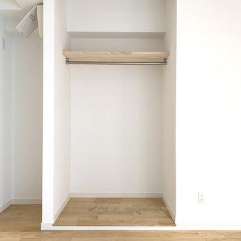 収納は扉なしのオープンタイプになります