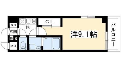 インベスト京都修学院の間取り