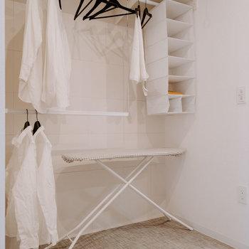 左手の収納。※画像はモデルルーム、家具や調度品は付属しません