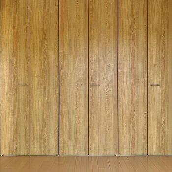 【洋室4.5帖】壁いっぱいの収納スペース。※写真は前回募集時のものです。