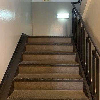 この階段をのぼって3階まで!