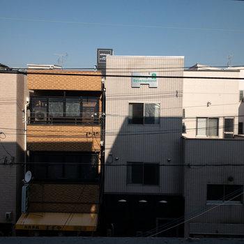 眺望はお向かいの建物。