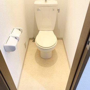 圧迫感を感じないトイレです。