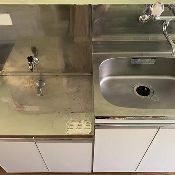 シンクが広く洗い物が楽々ですね。※写真は前回募集時のものです
