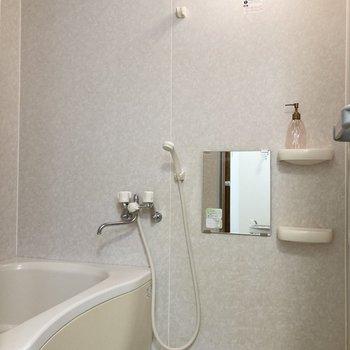 お風呂はシャンプードレッサーのお向かいに。